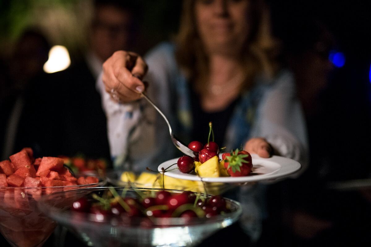 frutta al buffet del matrimonio