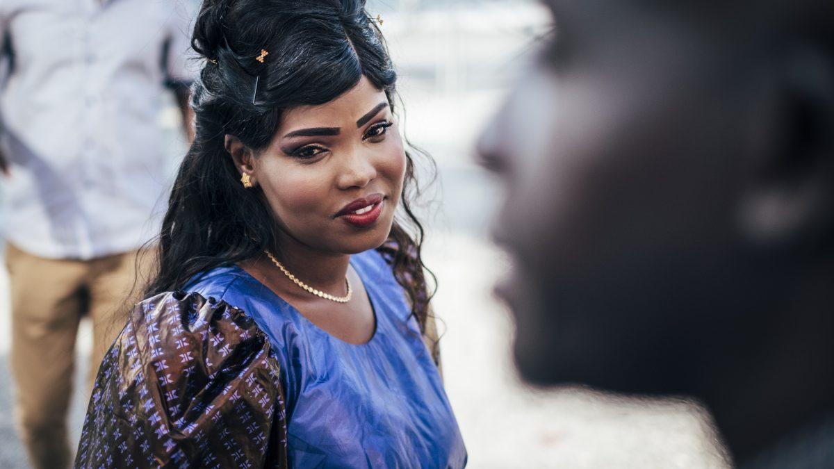 il primo piano di una sposa africana